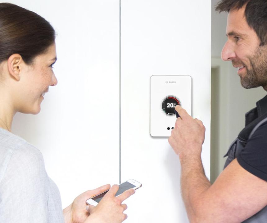 thermostaat digitaal met smartphone